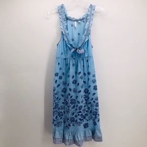 Anthropologie Eloise Blue Bird Nightgown Small